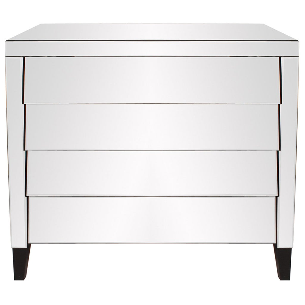 Mirrored 4-Drawer Dresser