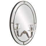 Opal Oval Mirror with Candle Holder
