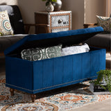 Baxton Studio Kaylee Upholstered Button-Tufted Storage Ottoman Bench