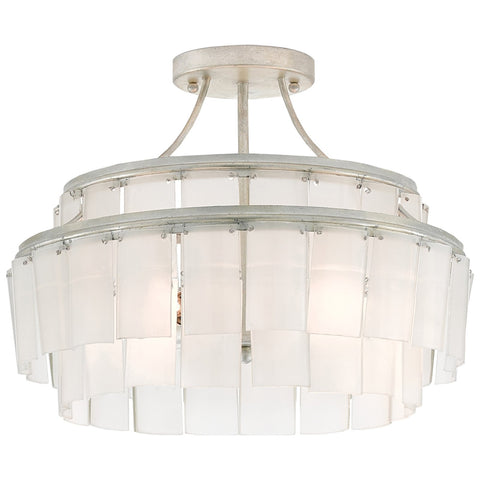 Vintner Blanc Semi-Flush Mount in Contemporary Silver Leaf