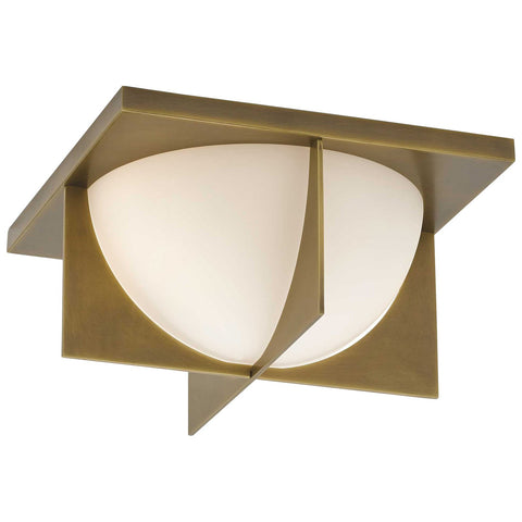 Lucas Flush Mount in Antique Brass
