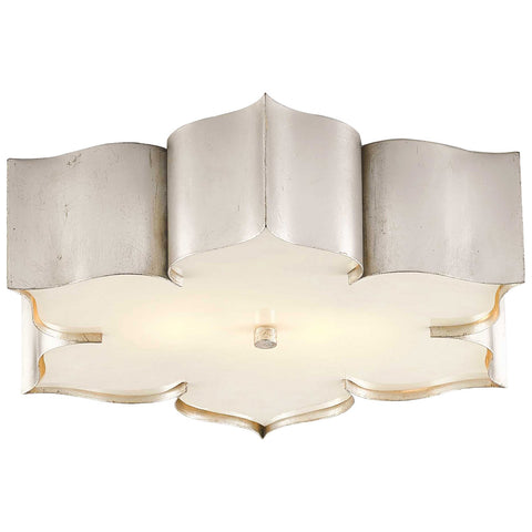Grand Lotus Flush Mount in Contemporary Silver Leaf