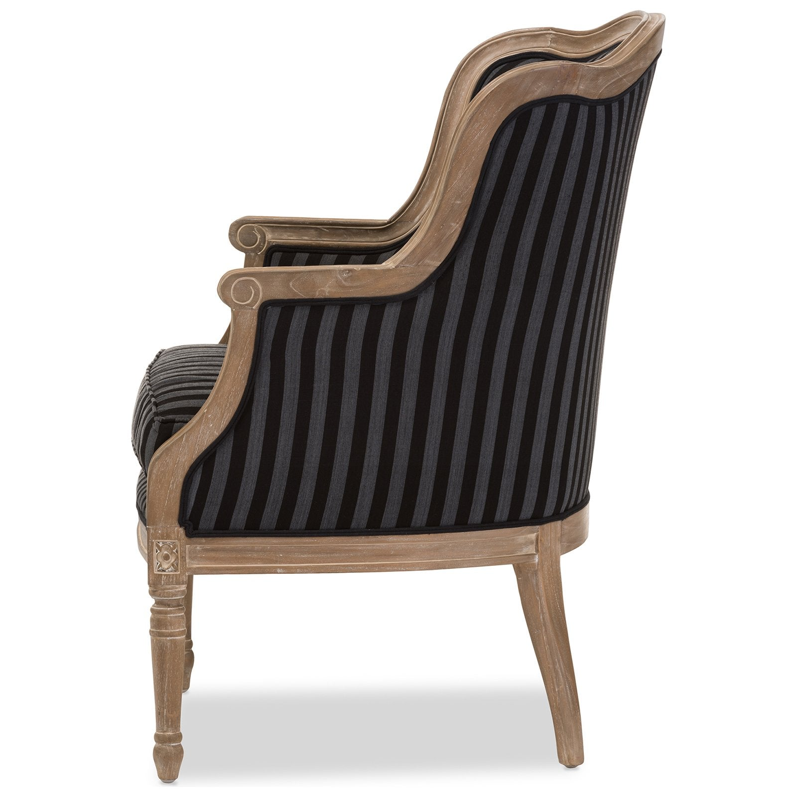 Swell Charlemagne Black Stripe Oak Traditional French Accent Pabps2019 Chair Design Images Pabps2019Com