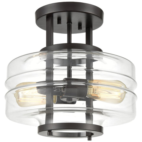 Rover 2-Light Semi Flush Mount