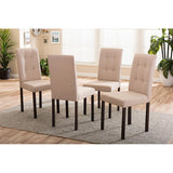 Andrew Fabric Upholstered Grid-tufting Dining Chair, Set of 4