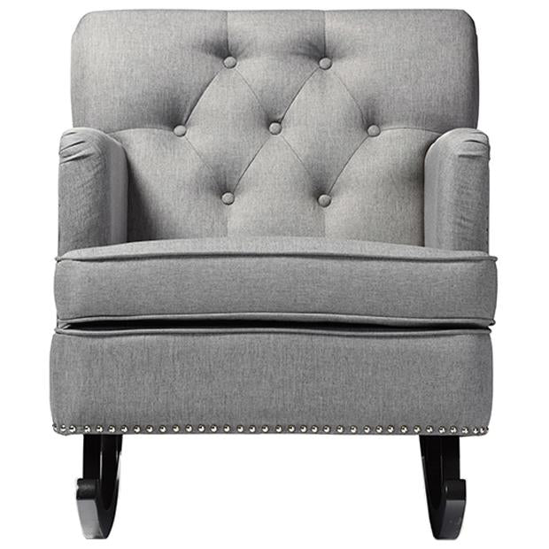 Bethany Fabric Upholstered Button-tufted Rocking Chair