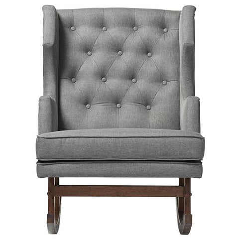 Iona Fabric Upholstered Button-tufted Wingback Rocking Chair