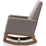 Yashiya Fabric Upholstered Rocking Chair