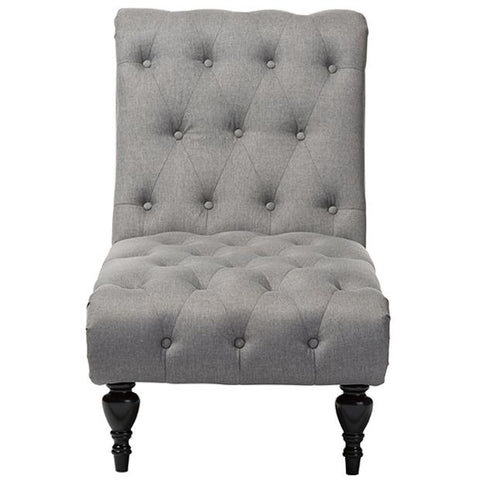 Layla Fabric Upholstered Button-tufted Chaise Lounge