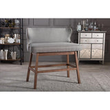 Gradisca Fabric Button-tufted Upholstered Bar Bench Banquette