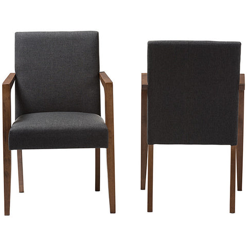 Andrea Upholstered Wooden Armchair, Set of 2