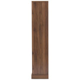 Baxton Studio Burnwood Walnut Brown Finished Wood 2-Drawer Bookcase