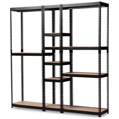 Baxton Studio Gavin Metal 10-Shelf Closet Storage Racking Organizer