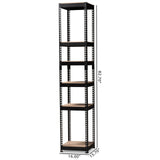 Baxton Studio Gavin Metal 5-Shelf Closet Storage Racking Organizer
