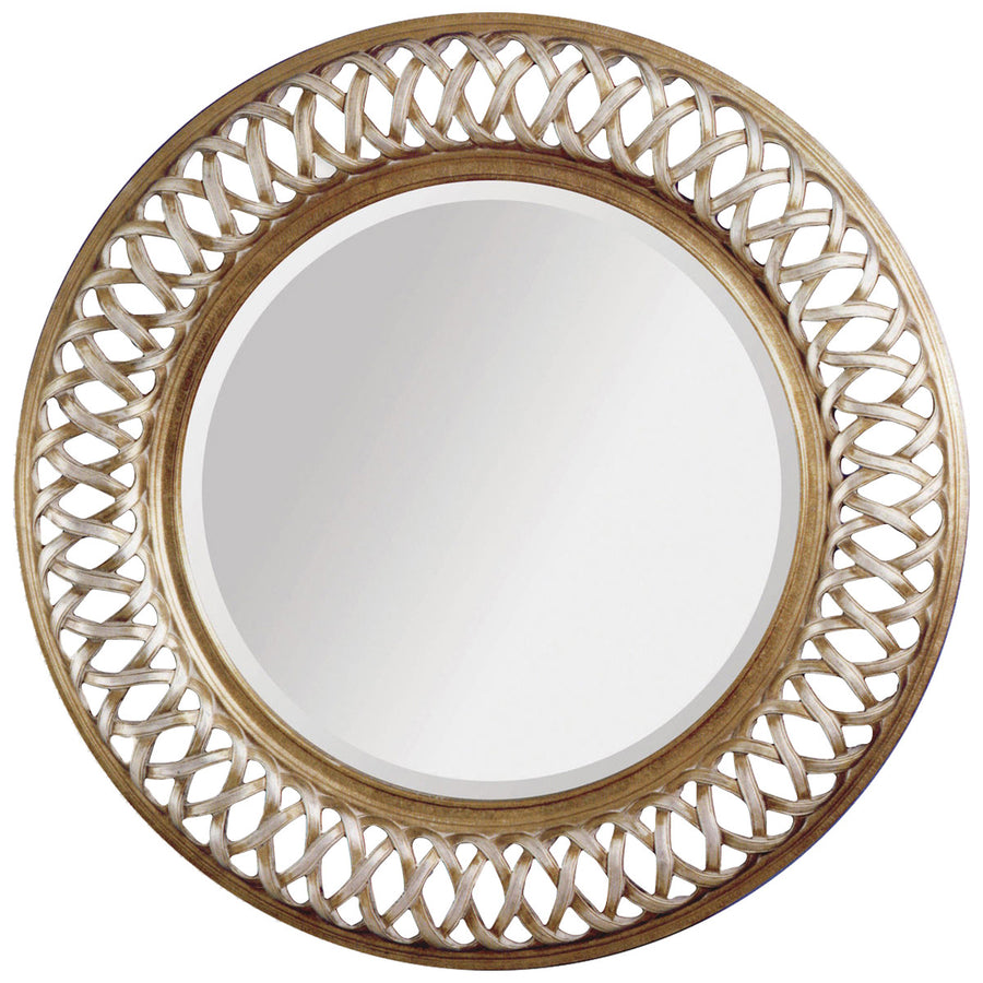 Alissa Wall Mirror in Champagne Leaf