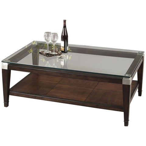 Dunhill Rectangular Cocktail Table in Cappuccino