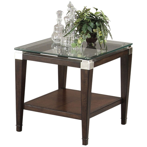 Dunhill Rectangular End Table in Cappuccino
