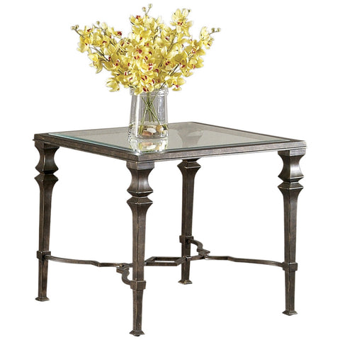 Lido Square End Table in Burnished Bronze