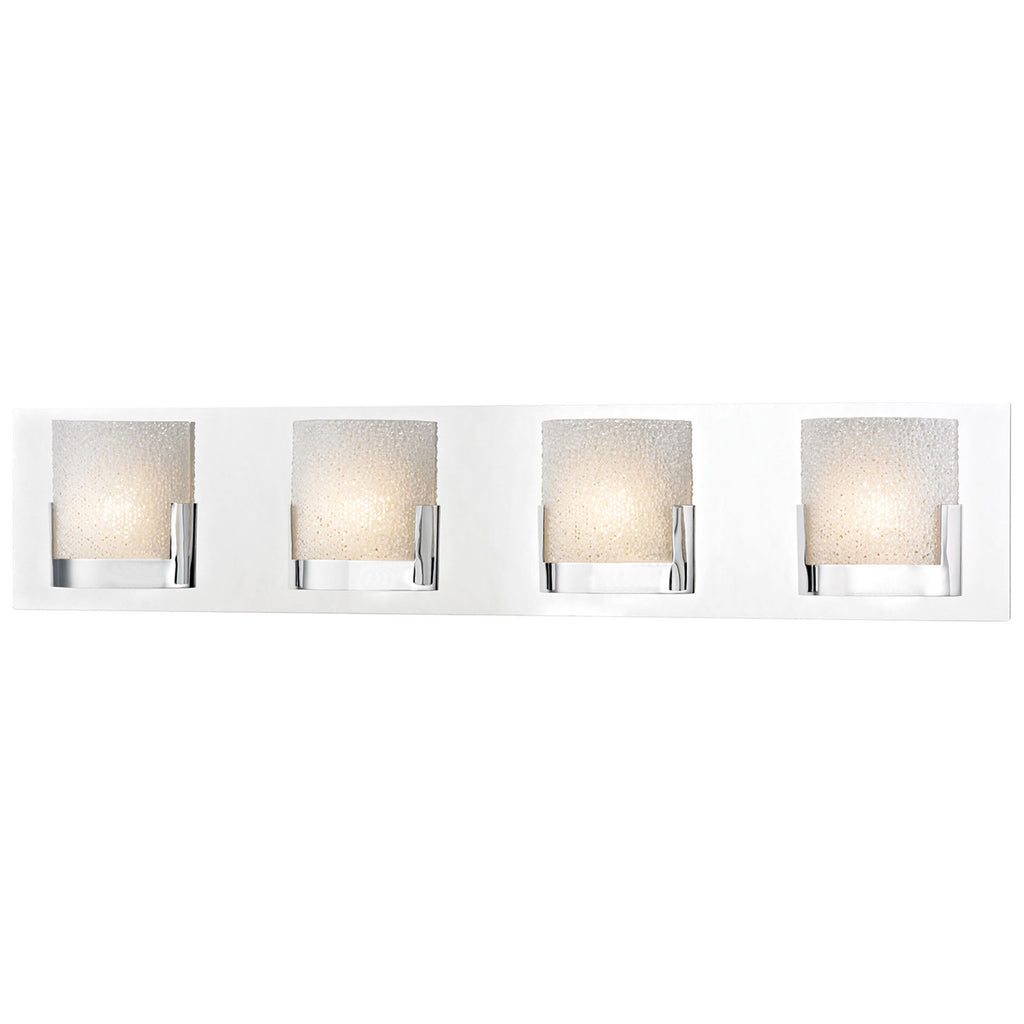 Ophelia 4-Light LED Vanity in Chrome and Clear Glass