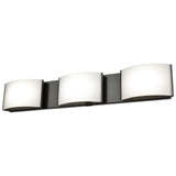 Pandora LED 3-Light LED Vanity in Chrome and Opal Glass
