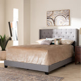 Baxton Studio Brady Modern and Contemporary Fabric Upholstered Bed
