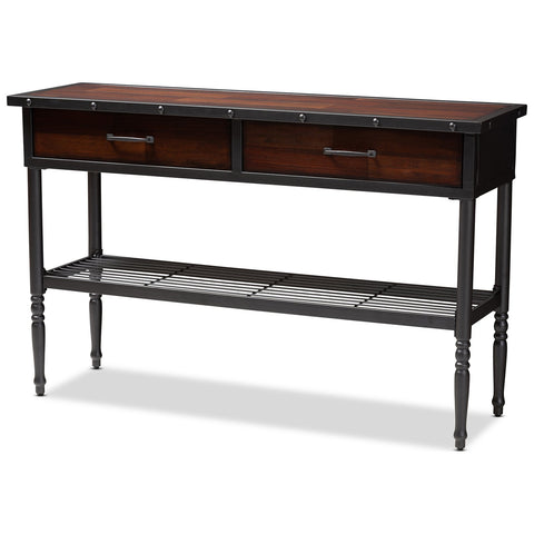Baxton Studio Jana Walnut-Finished Wood 2-Drawer Dining Room Server