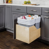 Preassembled Quart Single Pullout Waste Container System in Black