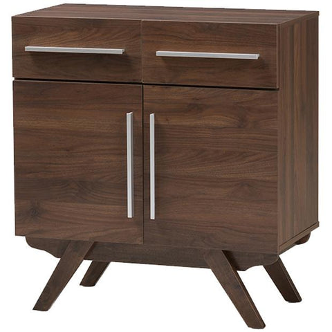 Baxton Studio Ashfield Walnut Brown Finished Wood Sideboard