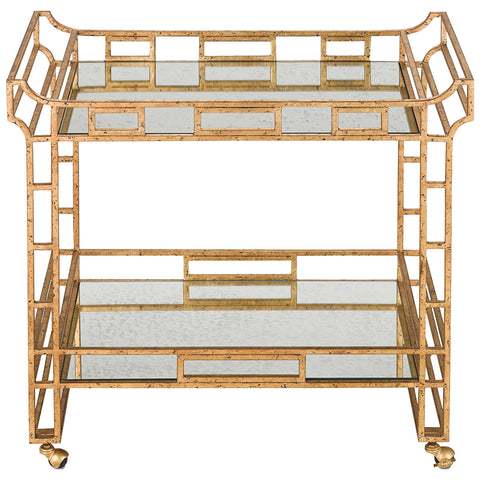 Odeon Gold Leaf Bar Cart