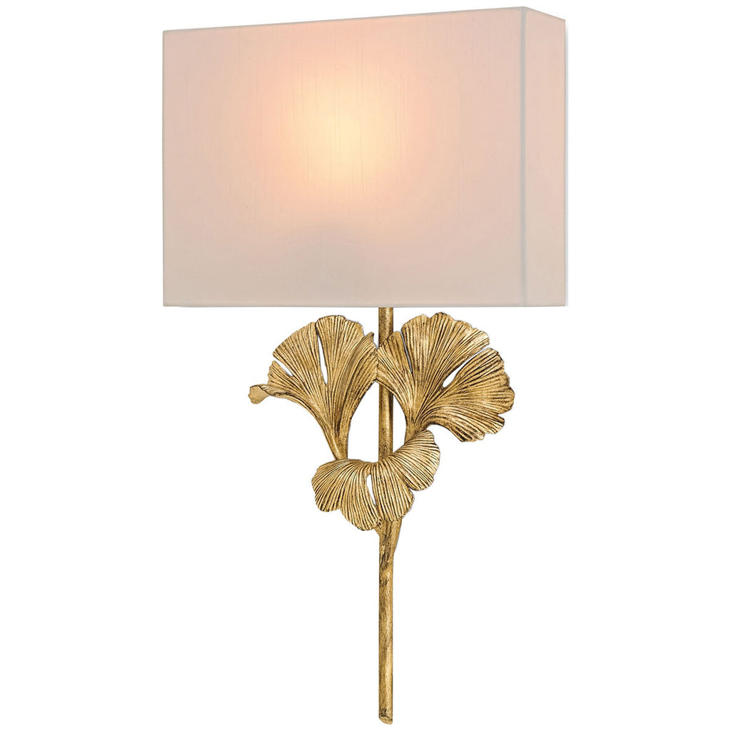 Gingko Gold Leaf Wall Sconce