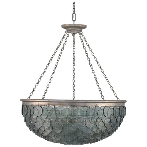 Quorum Silver Leaf Chandelier