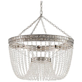 Highbrow Distressed Silver Leaf Chandelier