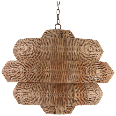 Antibes Khaki and Natural Chandelier