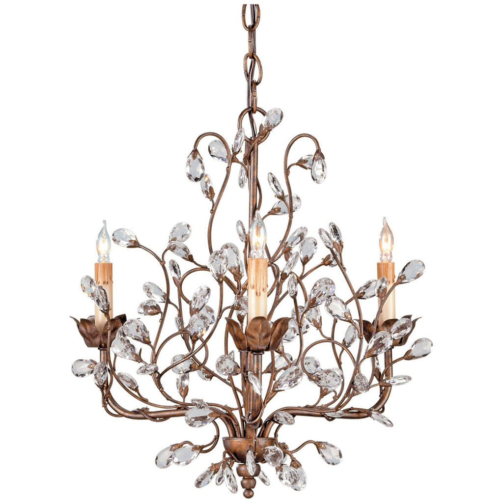 Crystal Bud Small Chandelier