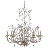 Crystal Large Bud Chandelier
