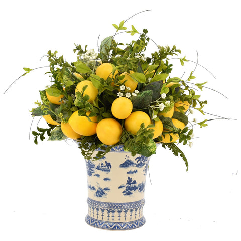 Lemon Leaf Pick in Ceramic Vase