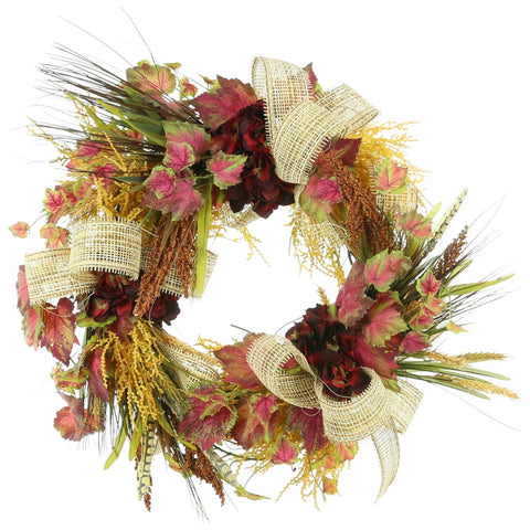"22"" Wreath with Fall Colors"