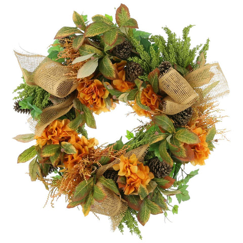 "24"" Grapevine Wreath with Fall Colors"