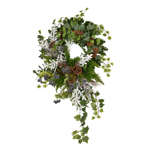 Ivy and Blueberry Wreath