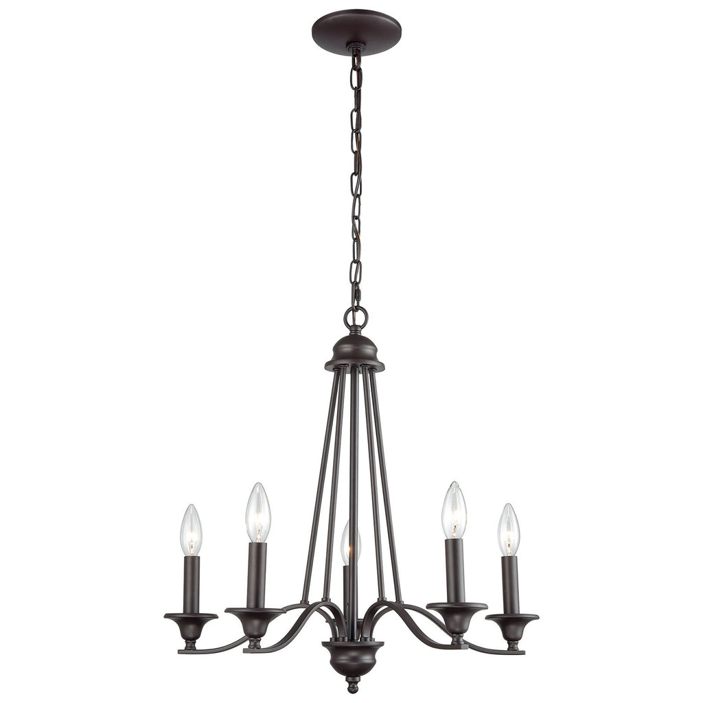 Farmington 5-Light Chandelier in Oil Rubbed Bronze