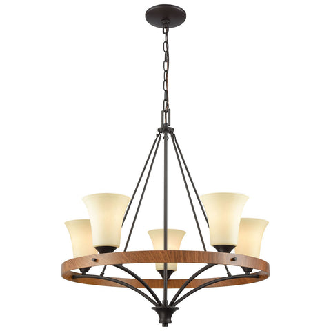 Park City 5-Light Chandelier in Oil Rubbed Bronze