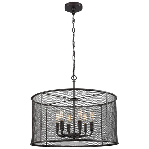 Williamsport 6-Light Chandelier with Oil Rubbed Bronze