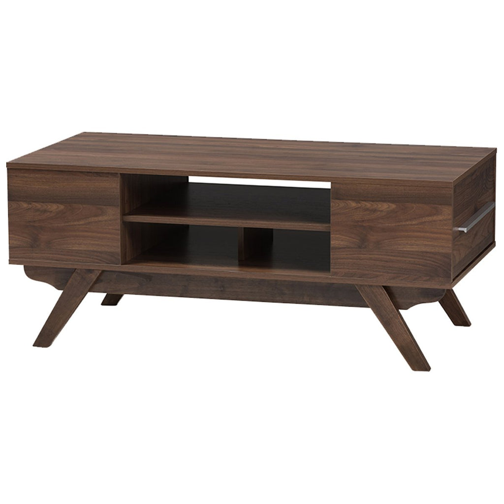 Baxton Studio Ashfield 2-Drawer Coffee Table