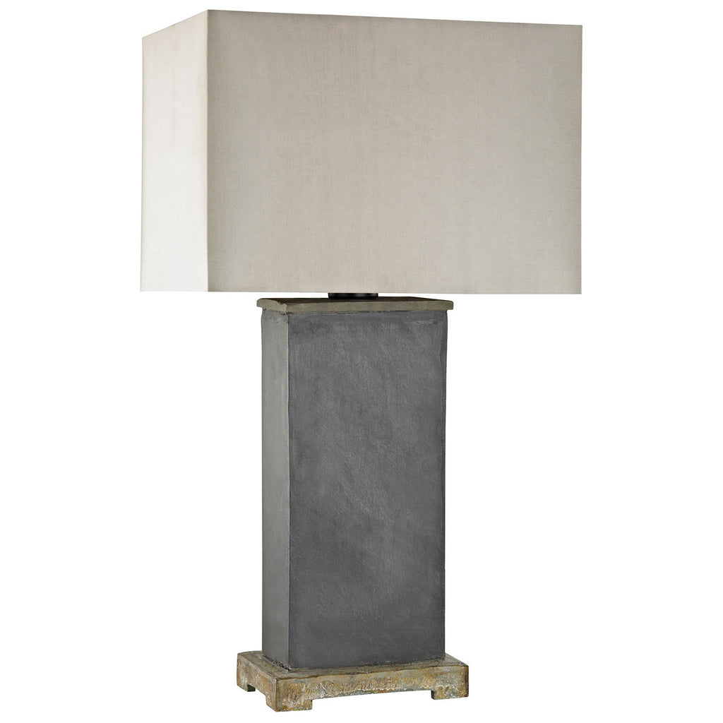 Elliot Bay Outdoor Table Lamp in Gray Slate