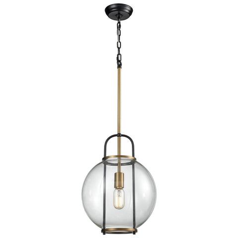 Faraday Aged Brass Pendant Light in Black