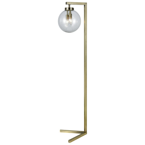 Carnegie Hill Floor Lamp in Antique Brass