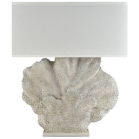 Menemsha Oversized Outdoor Table Lamp in Aged White Coral