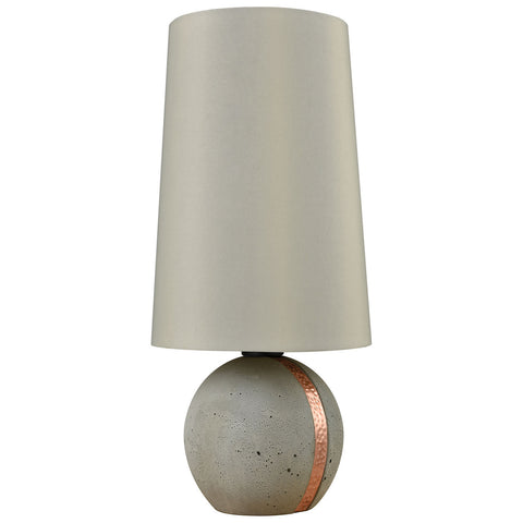 Jutland Table Lamp in Polished Concrete and Copper