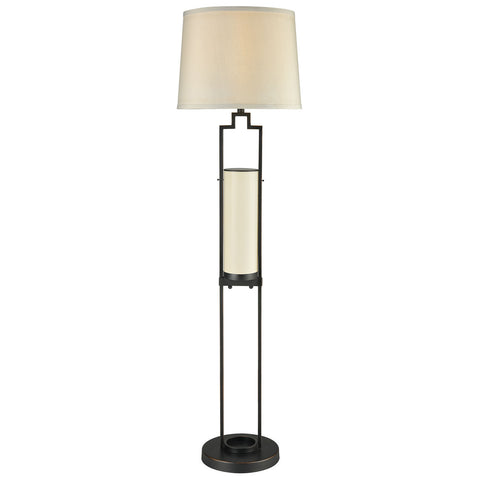 San Rafael Outdoor Floor Lamp in Oil Rubbed Bronze with Milk Glass