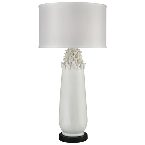 Calla Outdoor Table Lamp in Semi Gloss White